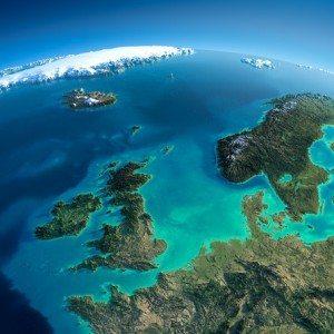 Szczegółowe Ziemi . Wielka Brytania iMorze Północne